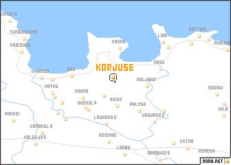 map of Korjuse