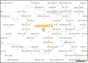 map of Kormanice