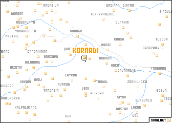 map of Körnǝdi