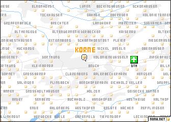 map of Körne