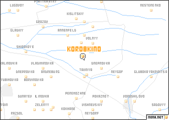 map of Korobkino