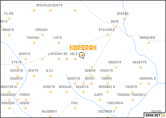 map of Kororak