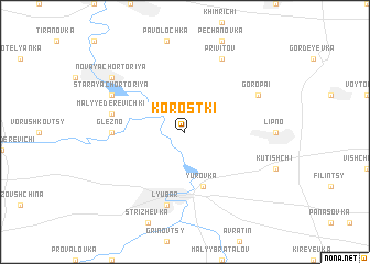 map of Korostki
