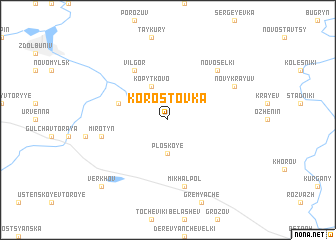 map of Korostovka