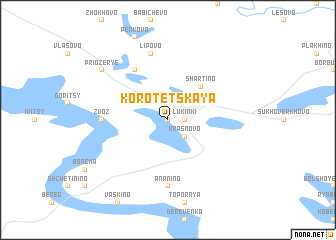 map of Korotetskaya