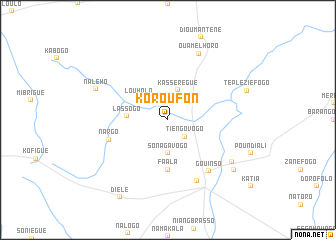 map of Koroufon