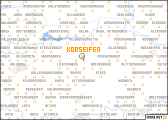 map of Korseifen