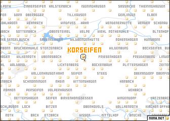 map of Korseifen
