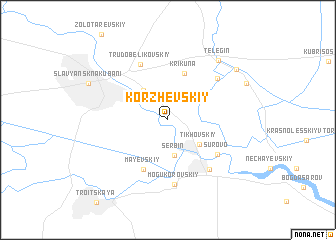 map of Korzhevskiy