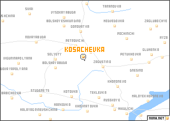 map of Kosachëvka