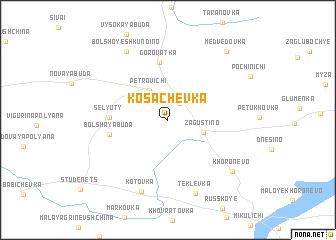 map of Kosachëvka