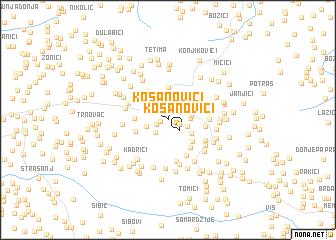 map of Kosanovići