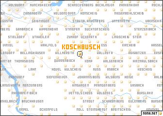 map of Köschbusch