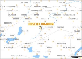 map of Kościelna Jania