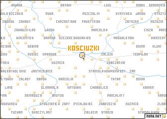 map of Kościuzki