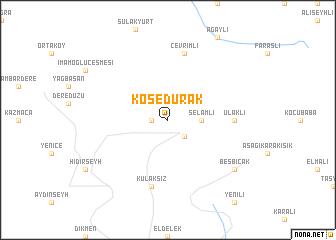 map of Kösedurak
