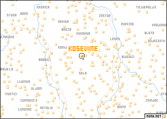 map of Koševine