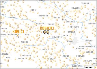 map of Kosići