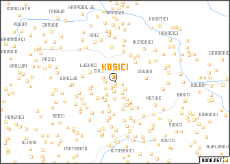 map of Kosići