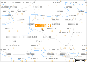 map of Kosienice