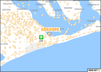 map of Kosi Kopé