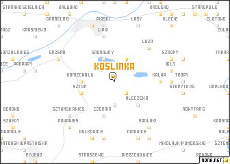 map of Koślinka