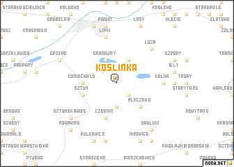 map of Koślinka