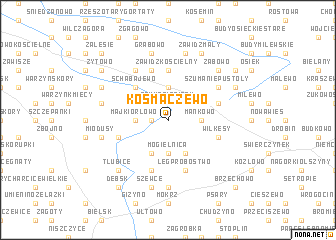map of Kosmaczewo