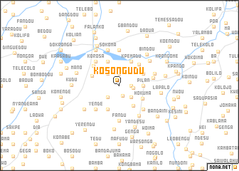map of Kosongudu