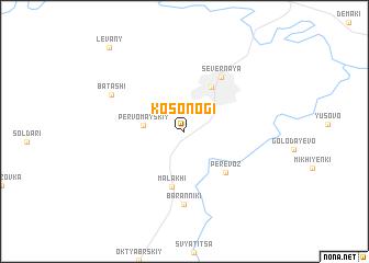 map of Kosonogi