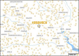 map of Kosovača