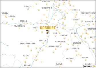 map of Kosovec