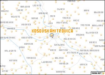 Kosovska Mitrovica Serbia and Montenegro map nonanet