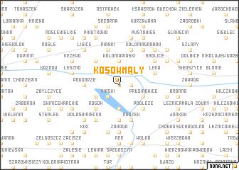 map of Kosów Mały