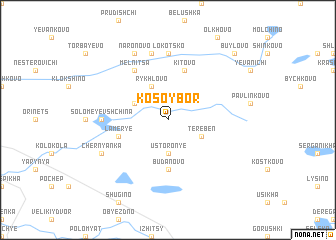 map of Kosoy Bor