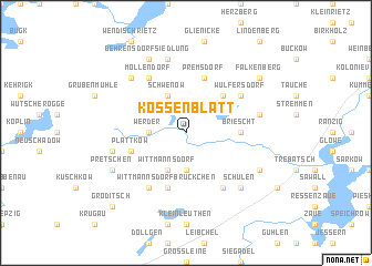 map of Kossenblatt