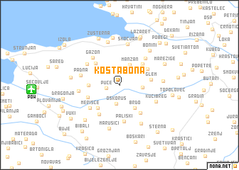 map of Koštabona