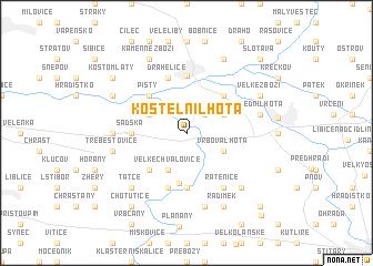 map of Kostelní Lhota