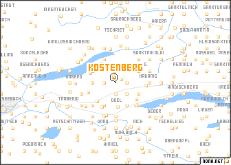 map of Köstenberg