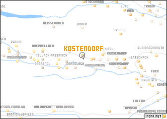 map of Köstendorf