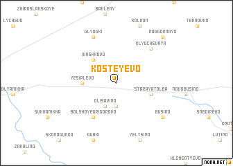 map of Kosteyevo