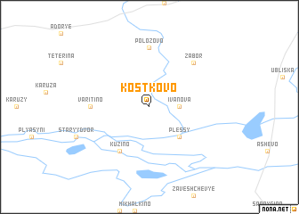 map of Kostkovo