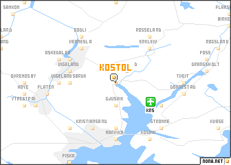 map of Kostøl