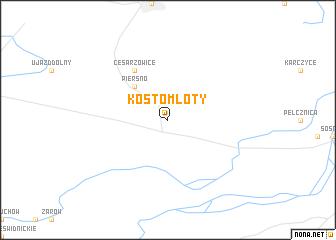 map of Kostomłoty