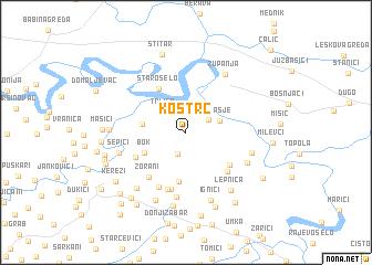 map of Kostrč