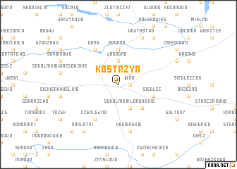 map of Kostrzyń