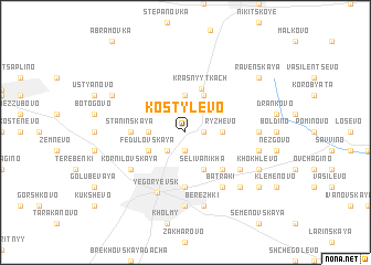 map of Kostylëvo