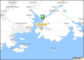 map of Kosvik