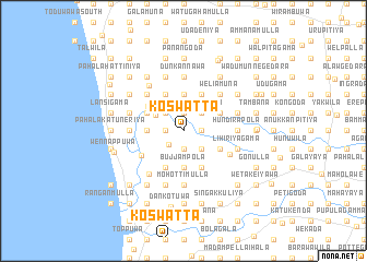 map of Koswatta