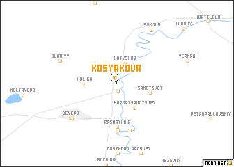 map of Kosyakova